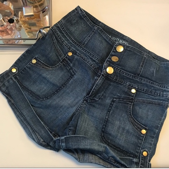 Guess Pants - GUESS High Waist Denim Shorts